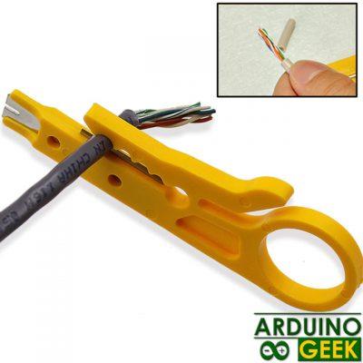 Нож для зачиски проводов желтый пластик