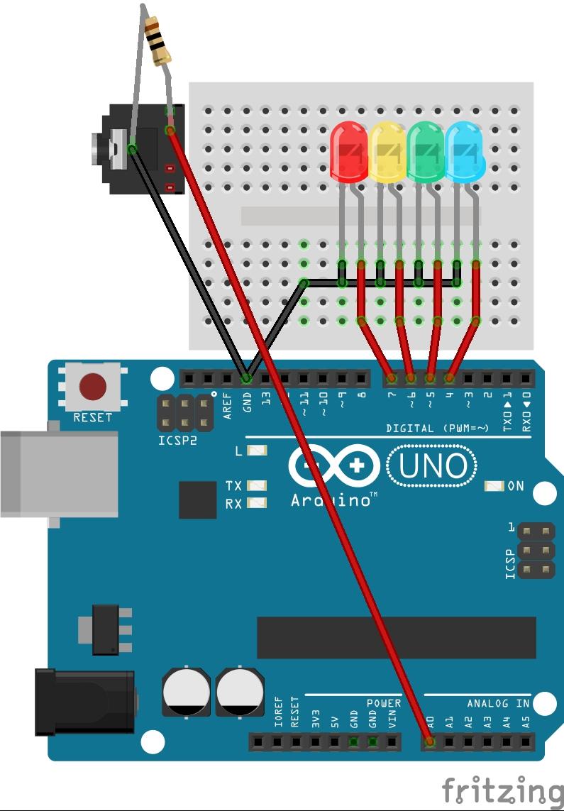Цветомузыка на Arduino UNO