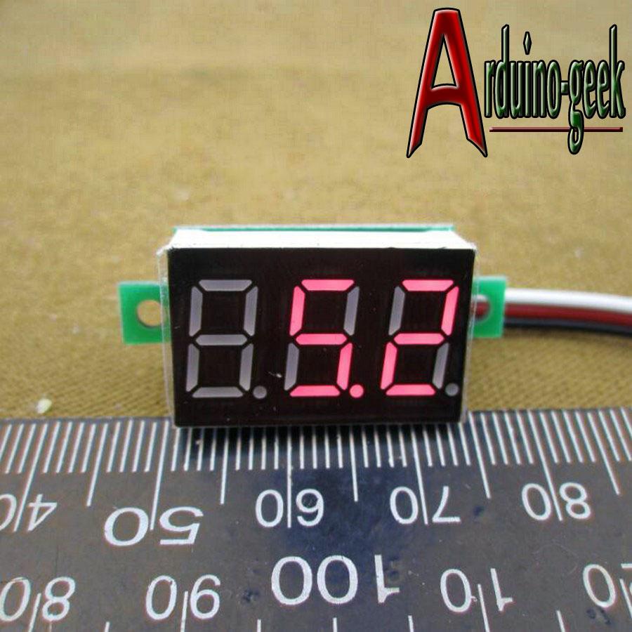 Вольтметр цифровой красный 0,36 DC 0 - 99В