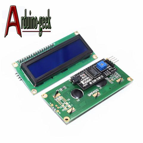 ЖК-Дисплей 1602 5 В Синий экран с интерфейсной шиной IIC I2C
