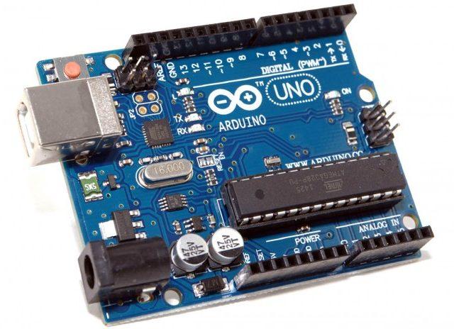 Arduino UNO на ATMEGA328P-PU с логотипом