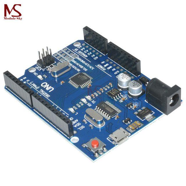 Arduino UNO R3 на МК MEGA328P CH340G MicroUSB