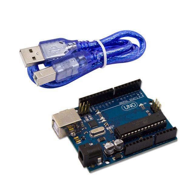 Arduino UNO на МК ATmega328P с кабелем USB